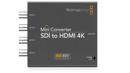 Blackmagic Design发布3款支持6G-SDI的超高清 Mini Converter转换器