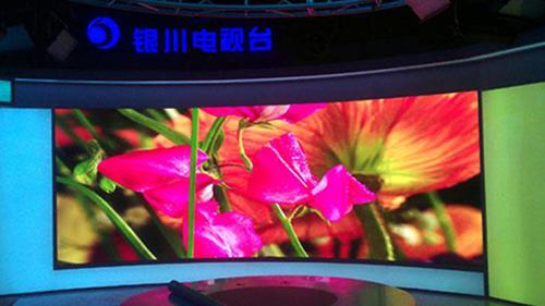洲明小间距LED成功点亮银川广播电台演播室