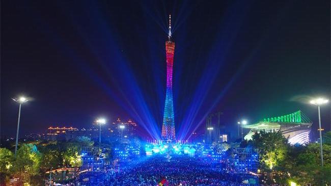 18000流明激光投影首秀 Vivitek(丽讯)连续四年助力广州灯光节