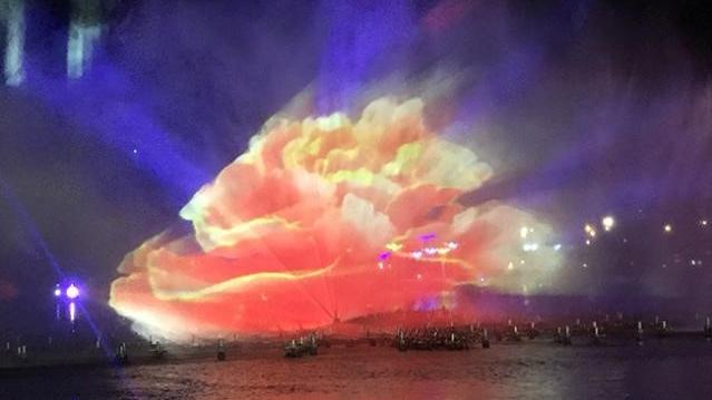 亳州灯光水舞秀获央视报道,赢康参与水幕投影工作