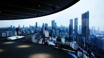 "12K曲面""黑彩晶""显示系统惊艳亮相日本NTT DoCoMo展厅"